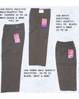 Pull Up Fully Elasticated School Trousers - BT076