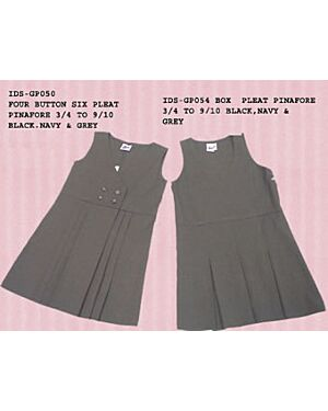 GIRLS SCHOOL PINAFORE WITH PLEAT GP054