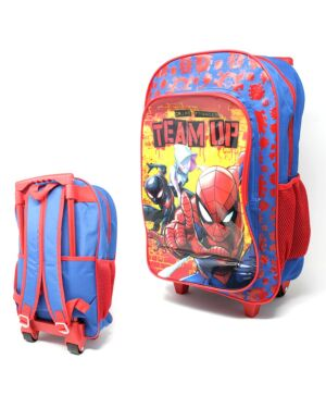 Deluxe Large Trolley Backpack with foldable trolley mechanism Spiderman ___TM 1019HV-9183