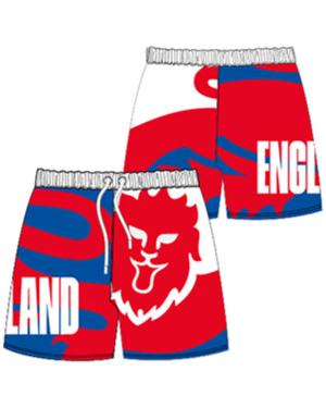 Boys F A England Board Short 3-10yrs PL1600