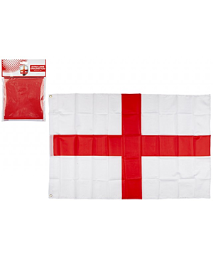ST GEORGE RAYON FLAG WITH GROMMETS 120 X 65CM PL1618