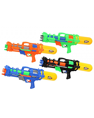 "PUMP ACTION WATER GUN 21.5"" 4 ASSORTED COLOURS PL1619"