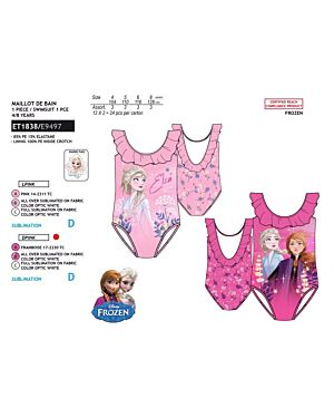 DISNEY FROZEN 1 PIECE SWIM SUIT PL1522