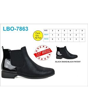 Ladies Black Ankle Boots QA2290