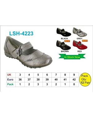 Girls Leather Loafers QA2295
