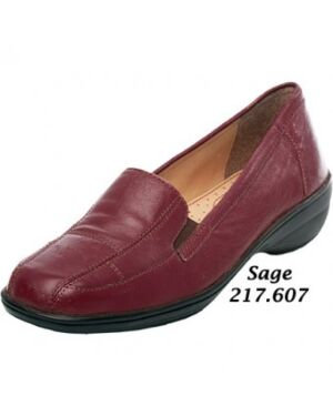 Wholesale Ladies Sage Leather Shoes