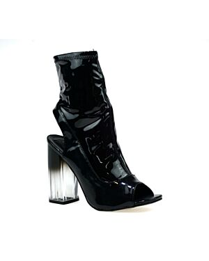 LADIES LBO-5632 BLACK PATENT 3-8(2-3-4-2-1)=12 BOX HOTSOLES LONDON PL2835