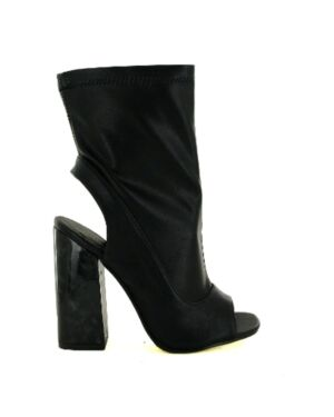 LADIES LBO-5632 BLACK PU 3-8(2-3-4-2-1)=12 BOX HOTSOLES LONDON PL2834