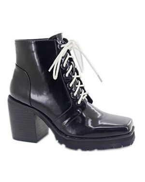 LADIES LBO-8203 BLACK PATENT 3-8(1-2-3-3-2-1)=12 BOX PL2818