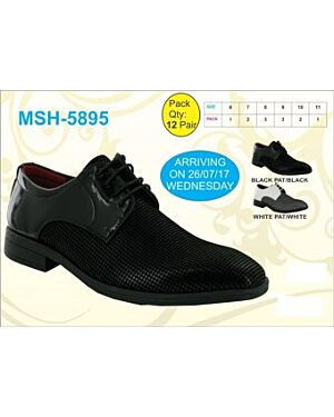 MENS BLACK SCHOOL SHOES TD9823