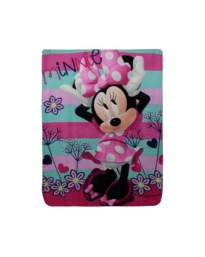 Girls Minnie Mouse Blanket PL0251