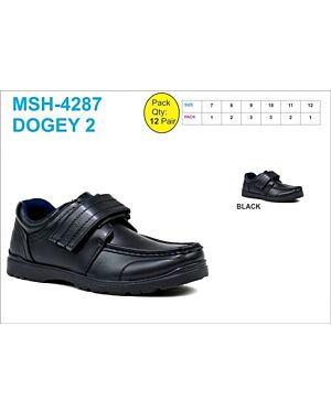 OLDER BOYS SCHOOL SHOE MSH-4287 (DOGEY 2) BLACK 7-12(1-2-3-3-2-1)=12 BOX U.S.BRASS PL3011