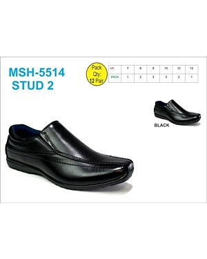 MSH-5514 (STUD 2) BLACK 7-12(1-2-3-3-2-1)=12 BOX U.S.BRASS_ _BS00012