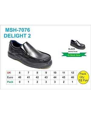 MSH-7076 (DELIGHT 2) BLACK 7-12(1-2-3-3-2-1)=12 BOX U.S.BRASS PL3014