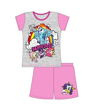 MY LITTLE PONY OLDER GIRLS SHORTIE PJS - QA418