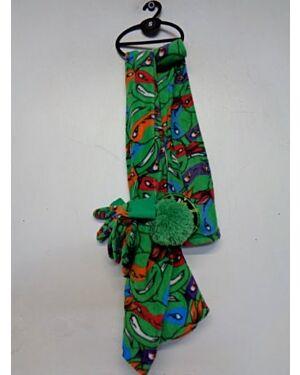 Ninja Turtles 3pcs Set hat and scarf set TD10474