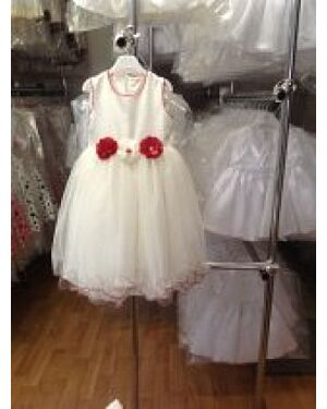 GIRLS PARTY DRESSES WITH FLOWERS AND FRILL TD4945