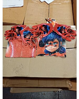 MIRACULOUS LADYBUG 2 HATS AND 2 GLOVES PL1507