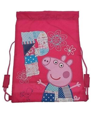 Official Peppa Pig Pink Girls Trainer Gym Sports Kit Tidy Drawstring Bag PL745