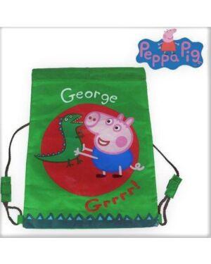 Official Peppa George And Crocodile Pull String Bag Grrrr Gym Bag Boys PL746