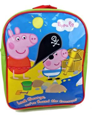 Official Peppa Pig Boys Backpck As Sea Pirate Treasure Light green Kids Backpack PL747