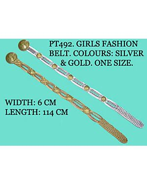 Girls Fashionable Belt with design Buckle - PT492