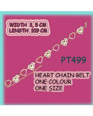 GIRLS FASHIONABLE HEART BELT IN SILVER PT499