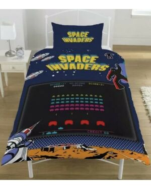 Space Invaders Coin Op Duvet Set Single CCC0165