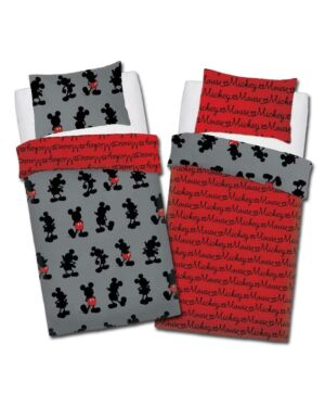 Mickey Mouse Pops Of Red ROTARY (Polycotton) (Disney) Duvet Set SingleCCC0091