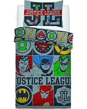 Justice League Vintage Icons PANEL (Polycotton) W Duvet Set Single CCC0068