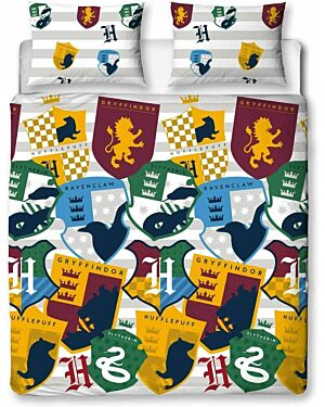 Harry Potter Stickers Rotary Duvet Set Double CCC0054
