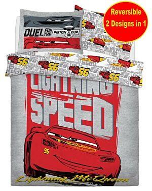 Cars LIGHTNING SPEED PANEL (Disney) Duvet Set Double CCC0011