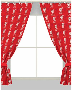 """Liverpool Repeat Crest 72""""Curtains  Polycotton CCC0279"""