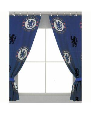 "Chelsea repeat Crest 72"" Curtains Polycotton CCC0243"