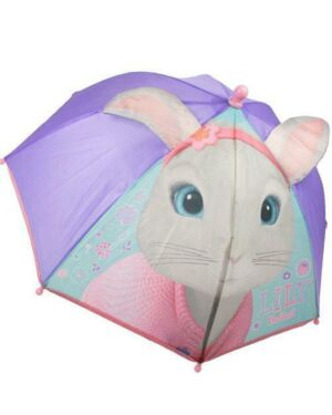 Peter Rabbit Lily Bobtail Girls Rain 3D Ears Umbrella PL647
