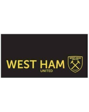 West Ham Luxury Jacquard Black Towel CCC0330