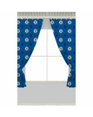 "Chelsea repeat Crest 54"" Curtains Polycotton CCC0241"