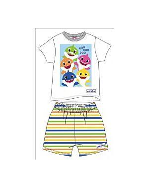 BOYS EXCHAINSTORE TODDLER BABY SHARK SHORTIE PYJAMAS PL717