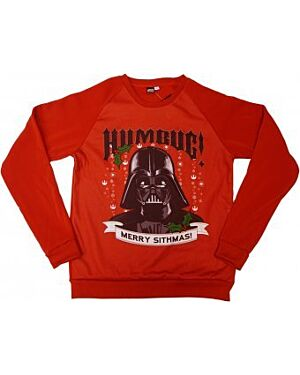 Mens Ex Chain Store Star Wars Darth Vader Christmas Sweater TD10338