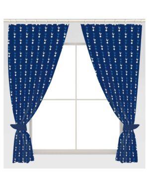 """Tottenham Hotspur Repeat Crest 54"""" Curtains Polycotton CCC0322"""