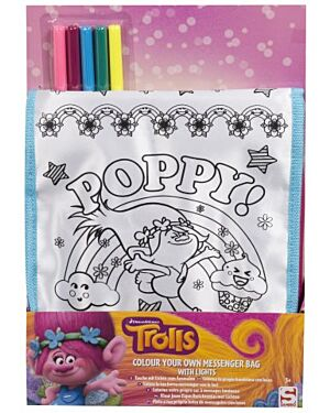 Trolls Colour Your Own Messenger Bag with lights TD8806