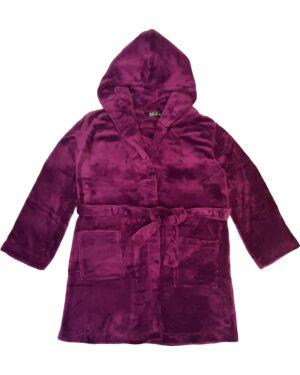Ladies Super Soft Cosy Winter Dressing Gown Fleece Hooded Bath Robe PL1271