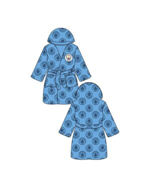 KIDS MANCHESTER CITY DRESSING ROBE (FLAT PACKED) PL1581