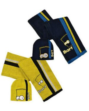 Bart Simpson Hat and Scarf set TD10368