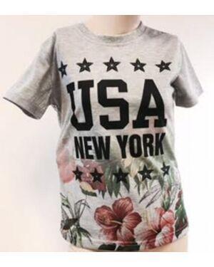BOYS NEW YORK USA PRINTED T-SHIRT TD9170