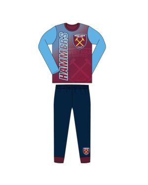 BOYS OLDER WEST HAM SUBLIMATION PYJAMAS QA7016