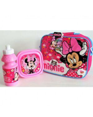 Disney Minnie, Horizontal with strap 3pce Lunch Bag Set PL645