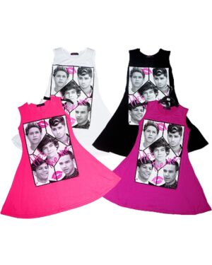 GIRLS CELEBRITY PRINTED DRESS MJ5004