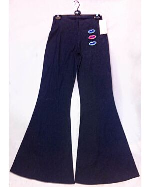 Girls Denim Flare Trousers with Lips - TD5577