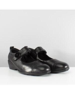 Girls Edwina Leather School Shoe QA649